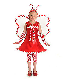 Kids Candy Cane Fairy Costume