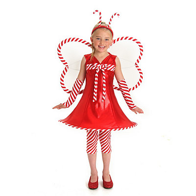 Candy Cane Fairy Child Costume