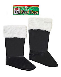 Santa Boot Tops with Fur Trim - Deluxe