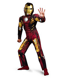 Kids Muscle Mark 7 Iron Man Costume - Avengers