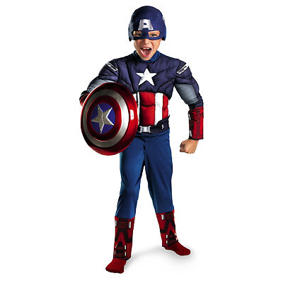 Captain America Avengers Classic Muscle Child Costume