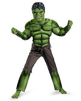 Kids Muscle Hulk Costume - Avengers