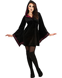 Adult Hooded Robe Gothic Priestess Costume