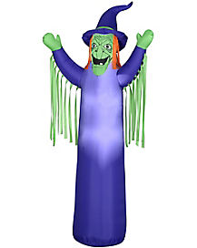Airblown Inflatable Slender Witch With Light-Up Eyes Decoration