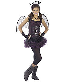 Tween Purple Night Wing Costume