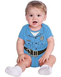 Baby Police Officer Bodysuit Costume