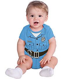 Police Officer Bodysuit Infant Costume