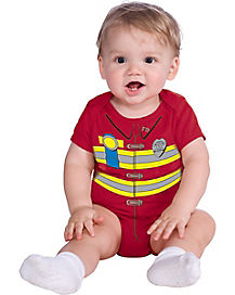 Baby One Piece Firefighter Costume