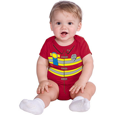 Firefighter Bodysuit Infant Costume
