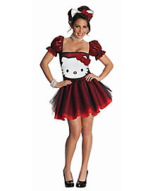 Adult Red Hello Kitty Dress Costume - Hello Kitty