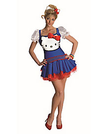 Hello Kitty Classic Blue Adult Womens Costume