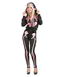 Pink Skeleton Hoodie