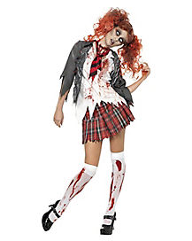 Adult High School Zombie Girl Costume