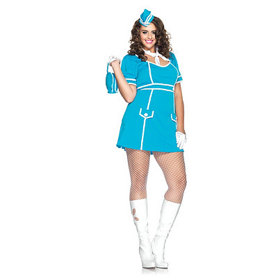 Classic Flight Attendant Adult Womens Plus Size Costume