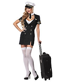 Adult Ready for Takeoff Pilot Plus Size Costume