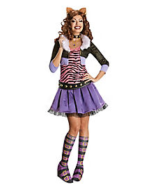 Adult Clawdeen Wolf Costume Deluxe - Monster High