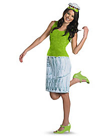 Adult Oscar the Grouch Dress Costume - Sesame Street