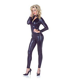 Adult Black Metallic Jumpsuit