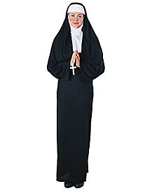 Four-in-One Nun Adult Womens Costume