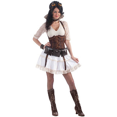 Vintage Inspired Halloween Costumes Adult Steampunk Sally Costume $59.99 AT vintagedancer.com