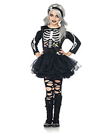 Scary Skeleton Girls Costume
