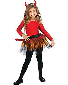 Kids Devil Tutu Costume