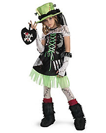 Kids Green Monster Bride Costume