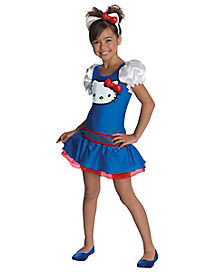 Kids Blue Hello Kitty Costume - Hello Kitty