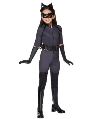 a girl modeling a catwoman outfit