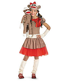 Kids Sock Monkey Costume