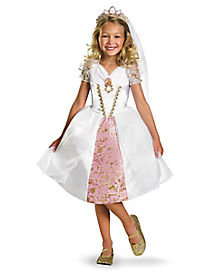 Kids Rapunzel Wedding Gown Costume - Tangled