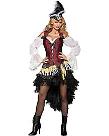 High Seas Treasure Adult Theatrical Pirate Costume