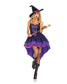 Adult Womens Broomstick Babe Witch Costume