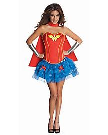 Wonder Woman Corset and Petticoat Adult Womens Costume