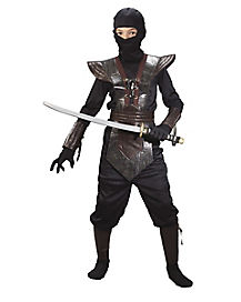 Ninja Brown Leather Boys Costume