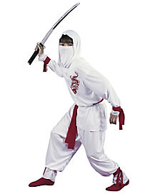 Kids White Ninja Costume