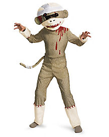 Kids Zombie Sock Monkey Costume