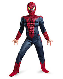 Spiderman Light-Up Muscle Boys Costume