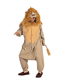 Adult Hooded Lion One-Piece Pajamas