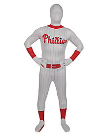 Adult Philadelphia Phillies Skin Suit Costume - MLB