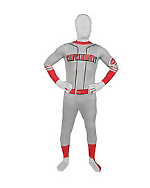 Adult Cincinnati Red Super Skin Suit Costume - MLB