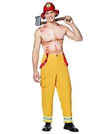 Adult Hunky Firefighter Costume
