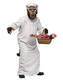 Big Bad Wolf Granny Adult Men's Costume