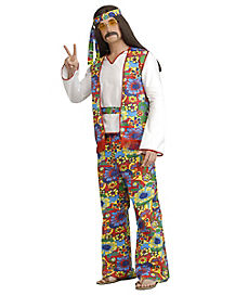 Adult Hippie Dippie Hippe Plus Size Costume