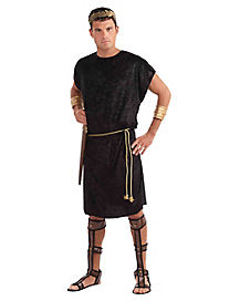 Adult Black Roman Tunic Plus Size Costume