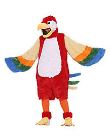 Adult Plush Parrot Costume - Deluxe