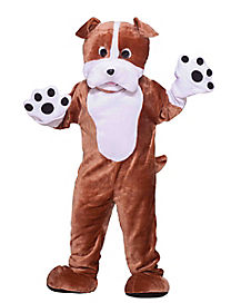 Adult Plush Bulldog Mascot One Piece Costume