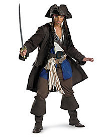 Captain Jack Sparrow Adult Men's Plus Size Costume