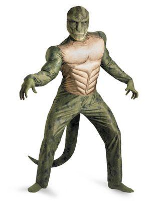 a man wearing a lizard costume halloween