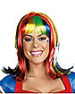 Rainbow Light up Adult Wig
